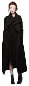 Rick Owens Wrap Blanket Long Winter Wool Coat