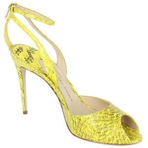 Paul Andrew Snakeskin Yellow Sandals