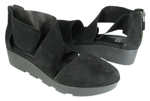 Eileen Fisher Suede Buoy black Sandals