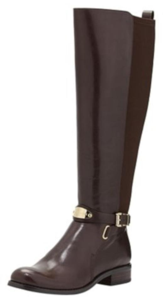505fd468aa721 Michael Kors Brown Arley Stretch Riding Boots Booties Size US 5.5 ...