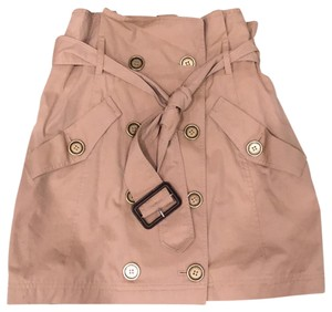 Burberry Brit Mini Skirt Tan