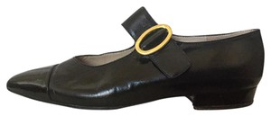 Chanel Mary Jane Flat Leather Black Flats