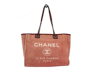 Chanel Deauville Two Way Deauville Ligne 31 Rue Cambon Tote in Pink