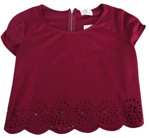 Pins and Needles Top Rouge red