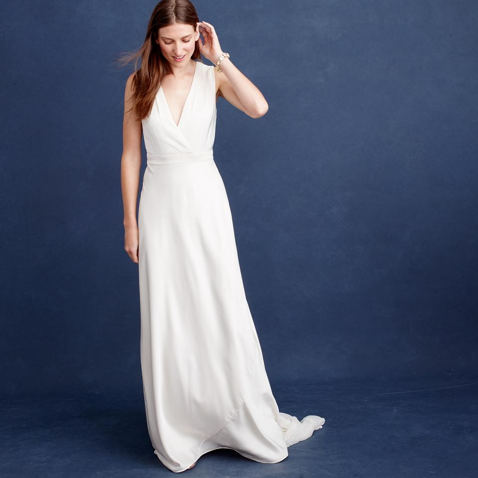 J.Crew Ivory Lana Wedding Dress Size 00 (XXS) - Tradesy