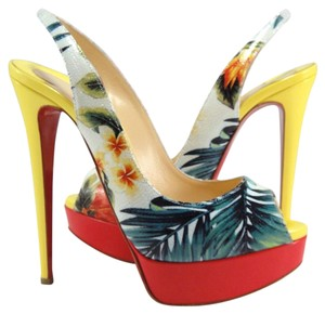 Christian Louboutin Hawaii Tropical Lady Peep Lady Peep Sling multi Pumps