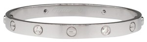 Cartier Cartier Love Bracelet White Gold with 4 Diamonds Size 16