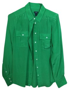J.Crew Button Down Shirt Emerald Green