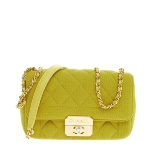 Chanel Cotton Yellow Clutch