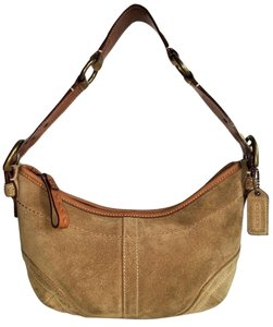 Coach Suede Leather Small Shoulder Bag