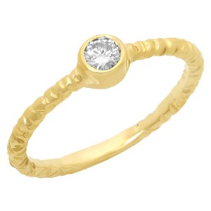 Fashion Strada Vintage Petite 0.04CTW Natural Diamond 14K White Gold Ring