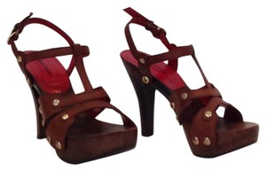 Cesare Paciotti Brown Platforms