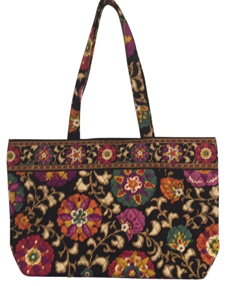 Vera Bradley Retired Pet And Smoke Free 11883-115 Tote in Suzani ... 6e27bb33c089a