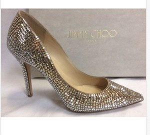 Jimmy Choo Jimmy Choo Formal Wedding Champagne Gold Stiletto Mosaic Wedding Shoes