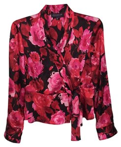Jones New York Top Red. Pink. Black