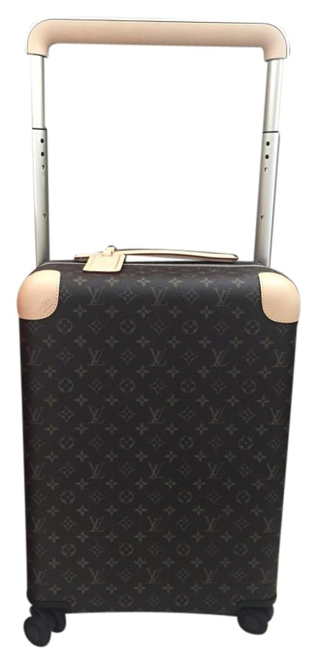 Louis Vuitton Horizon 55 Rolling Luggage Suitcase Carry On Brown ... 2a360574ce4bf