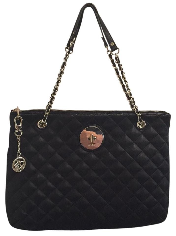 DKNY Soft Quilted Nappa Zip Black Leather Shoulder Bag - Tradesy : dkny black quilted purse - Adamdwight.com