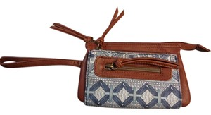 Maurices Tribal Brown/Blue Clutch