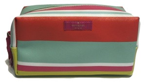 Kate Spade Kate Spade Grant Street Grainy Vinyl Medium Davie Striped Cosmetic