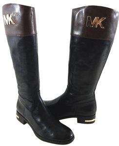 Michael Kors Leather Uppe Textile Lining Two tone Black/Brown Boots