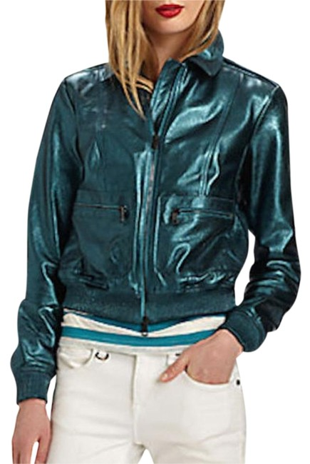 Preload https://img-static.tradesy.com/item/19866633/burberry-green-new-metallic-leather-check-biker-eu-38-motorcycle-jacket-size-4-s-0-1-650-650.jpg