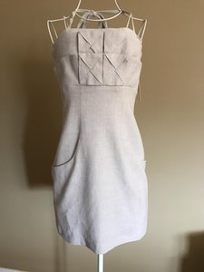 Alice + Olivia short dress taupe on Tradesy