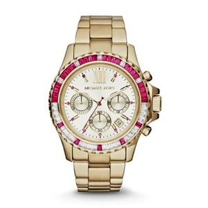 Michael Kors Michael Kors MK5731 Lady's, Goldtone Steel Backing Chrono Watch
