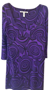 Black & Purple Maxi Dress by Diane von Furstenberg