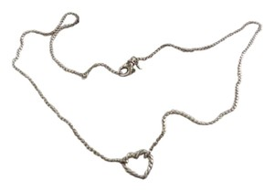 David Yurman Sterling Silver Cable Heart on 18-19