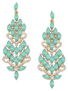 FASHIONIST Rhinestone Crystal Opal Evening Earrings