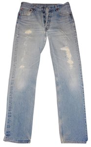 Levi's Distressed Button-fly Straight Leg Jeans-Distressed
