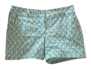 Ann Taylor Resort Summer Spring Mini/Short Shorts Green white