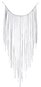 Gucci GUCCI Fringe Drape Diamond White Gold Necklace