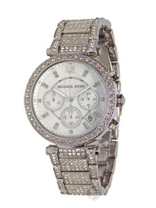 Michael Kors BRAND NEW WOMENS MICHAEL KORS (MK5572) PARKER SILVER CRYSTAL WATCH