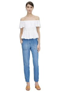 Rebecca Taylor Pant Light Weight Relaxed Fit Jeans-Light Wash