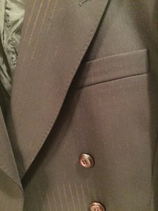 Jean-Paul Gaultier Black with Burgandy Pinstripe Blazer