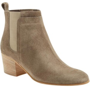 Vince Ankle Boot Bootie Suede Limestone Boots