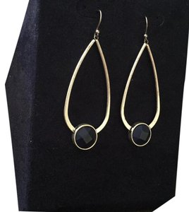 Lucky Brand NWT Hoop Blue Stone Earrings Jlry 3948