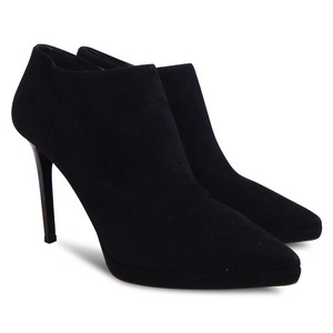 Jimmy Choo Suede Pointed Toe Bootie Boot Black Boots