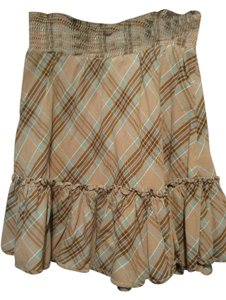 Old Navy Casual Cowboy Skirt Brown plaid