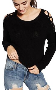 Express Lace Up Hi Lo Sweater