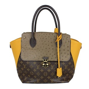 Louis Vuitton Monogram Tote in grey, yellow, brown