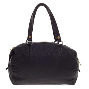 Cline Celine Leather Satchel in Black