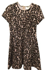 Kate Spade short dress beige/brown leopard Classsic Print on Tradesy