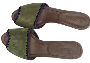 Prada green/purple Flats