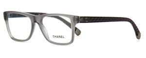 Chanel NEW Chanel CH 3325 Grey Quilted Square Gunmetal Eyeglasses Frames