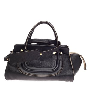 Chlo Chloe Leather Satchel in Black