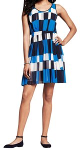 Banana Republic Pleated Belted Dress