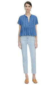 Rebecca Taylor Cotton Top Chambray