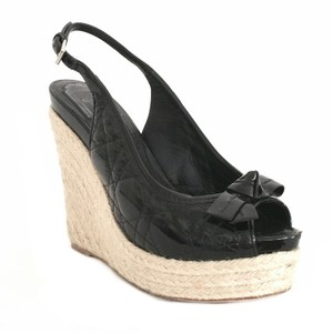 Dior Black Quilted Wedge Wedges